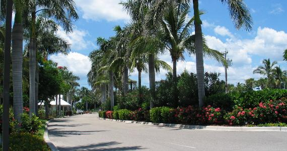Entrance to South Seas Island Resort  Captiva Island Florida. A special location for a romantic vacation.